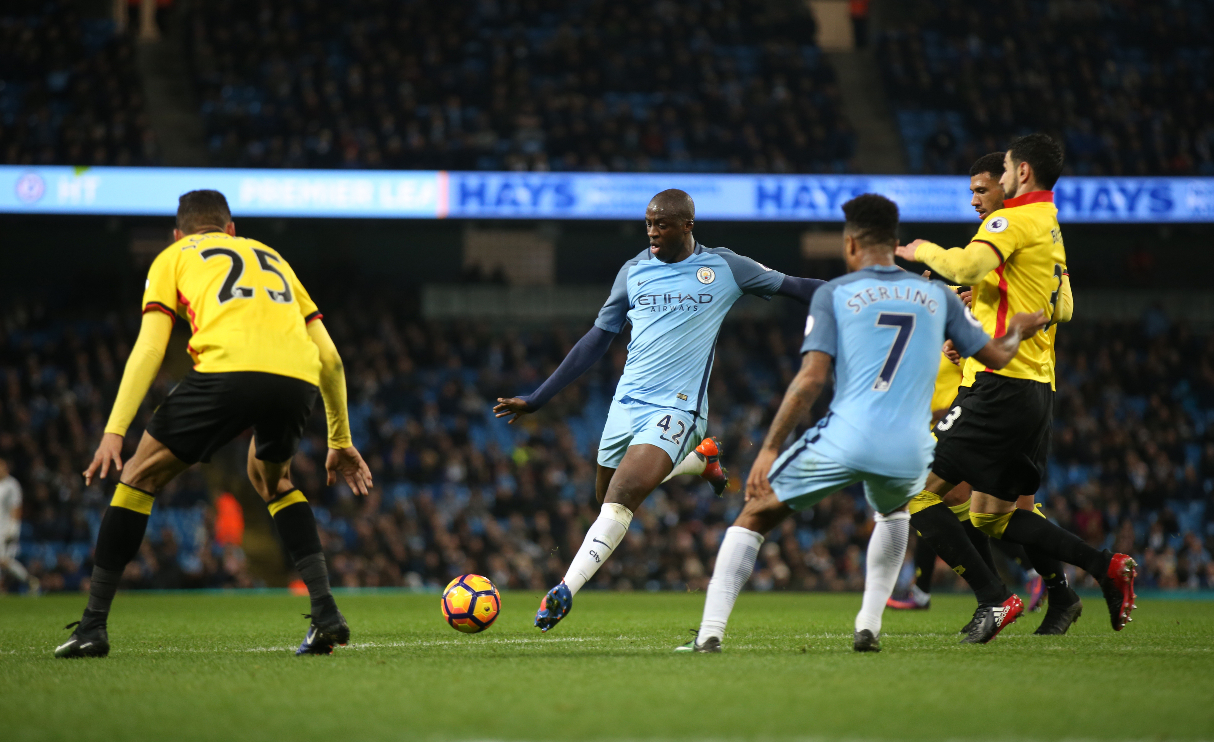 Manchester City's Yaya Toure in action against Watford