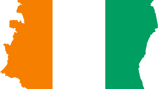 Ivory-Coast-Flag-Map